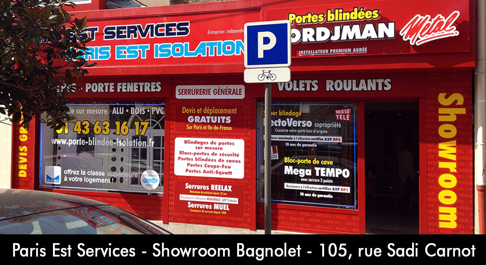 porte blind e paris est services showroom tordjman m tal bagnolet serrures reelax matest. Black Bedroom Furniture Sets. Home Design Ideas